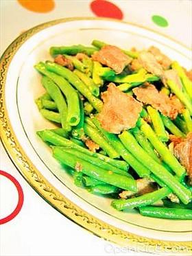 四季豆炒肉片
