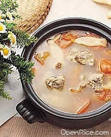 雞蛋花苦瓜瘦肉湯