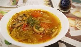 義式蔬菜蟹肉湯