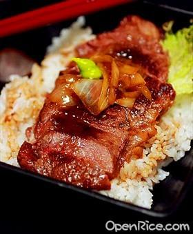 日式醬油牛排蓋飯