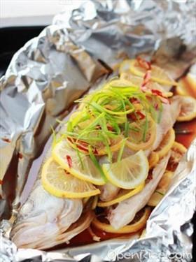 檸檬烤鱸魚